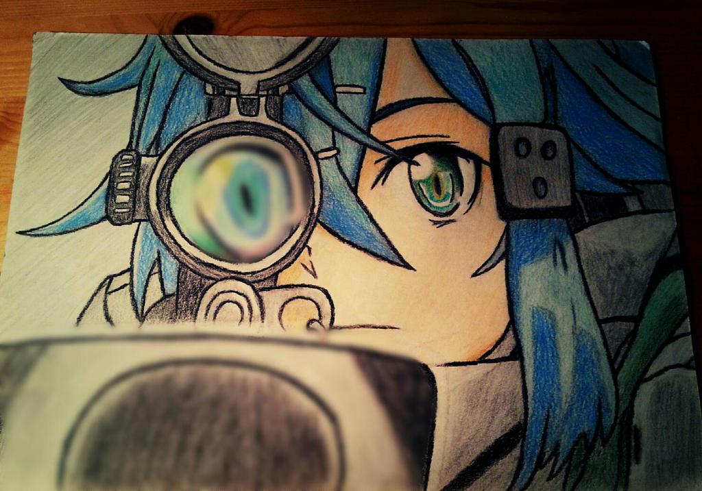 Sinon Sniper by WoodiVillage