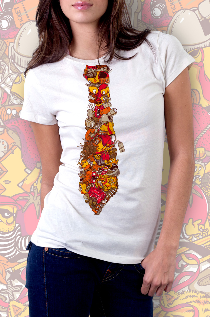 T the Tie t-shirt by mathiole