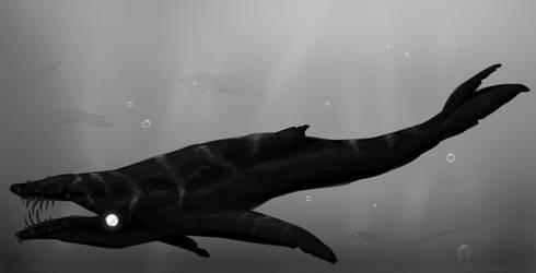 Inktober 2018 - Whale by VaalbaraCreeps