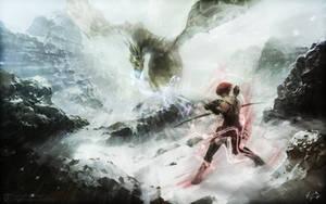 Leliana vs. Dragon by Telum101