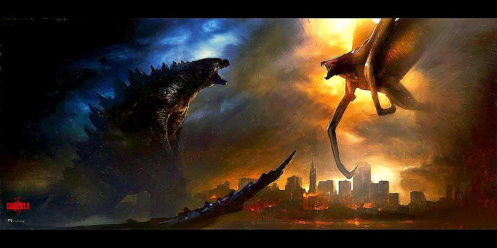 Godzilla vs Muto (GODZILLA) by KingKaijus on DeviantArt