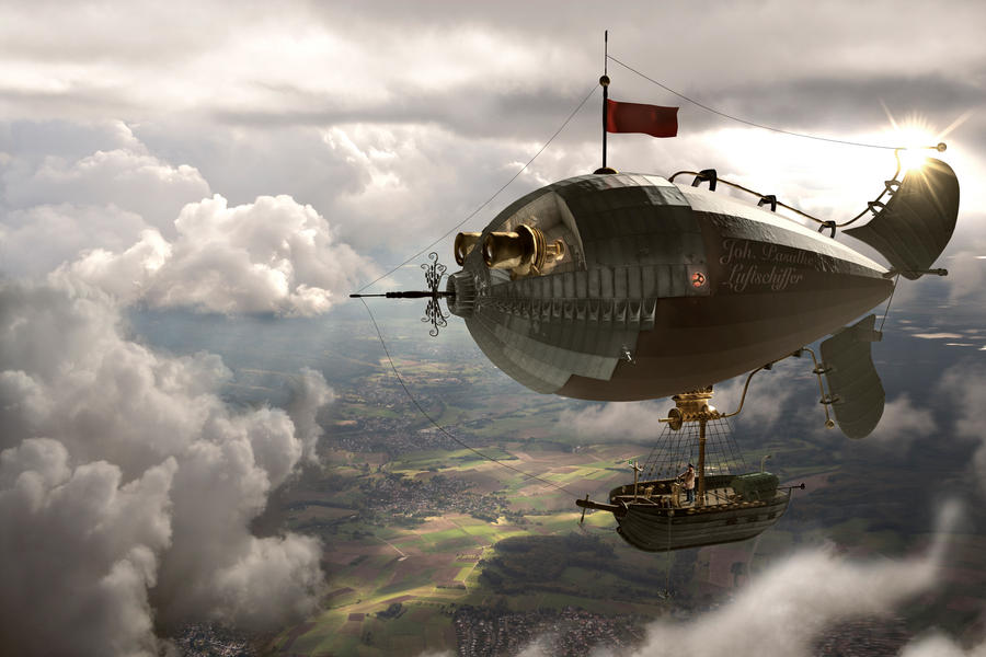 Fantasy Zeppelin Photomanipulation