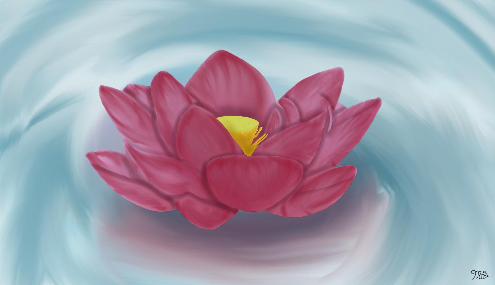 Lotus FLower by drawingwolf17