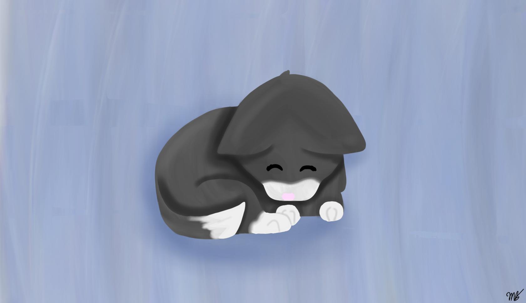 Cute Kitten by drawingwolf17