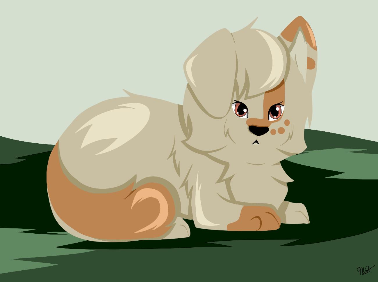 Essie as a Puppy by drawingwolf17