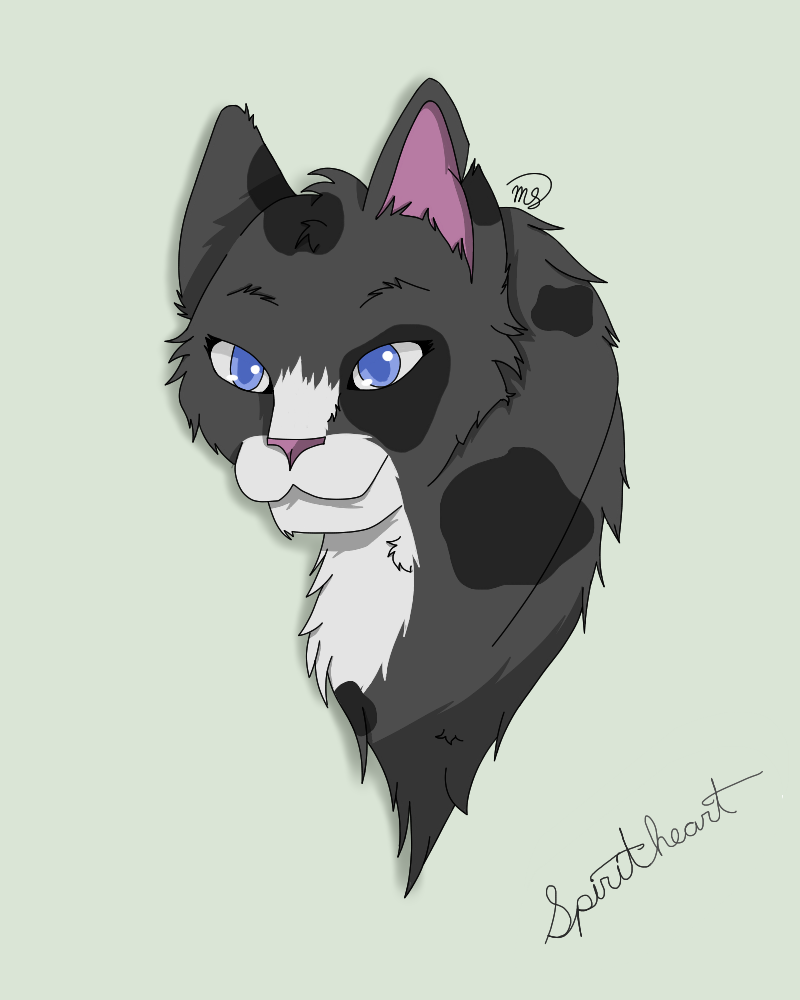 Spiritheart of DarkClan by drawingwolf17