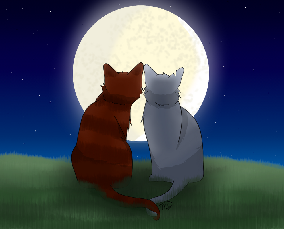 Under the Moon Together by drawingwolf17
