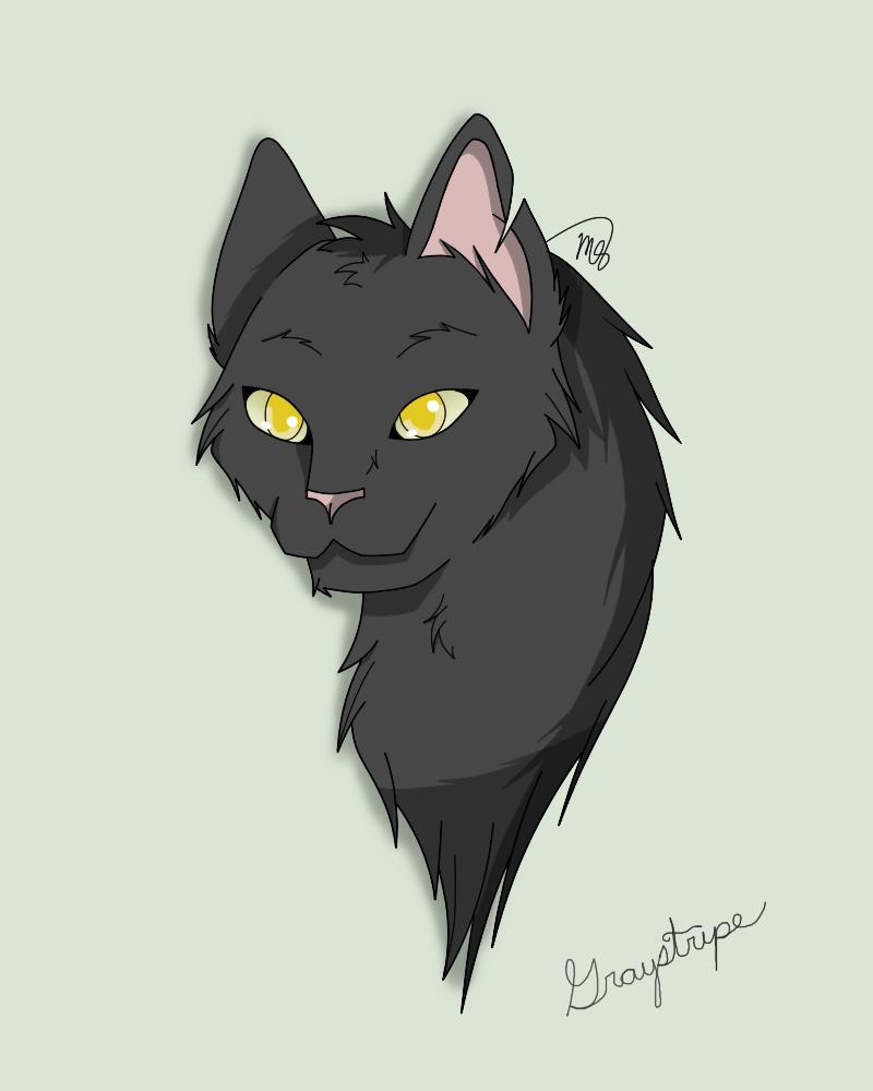 Graystripe (Request) by drawingwolf17