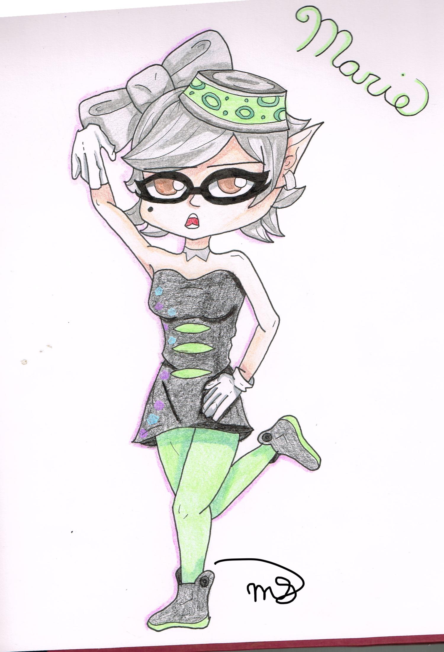 Splatoon- Marie by drawingwolf17