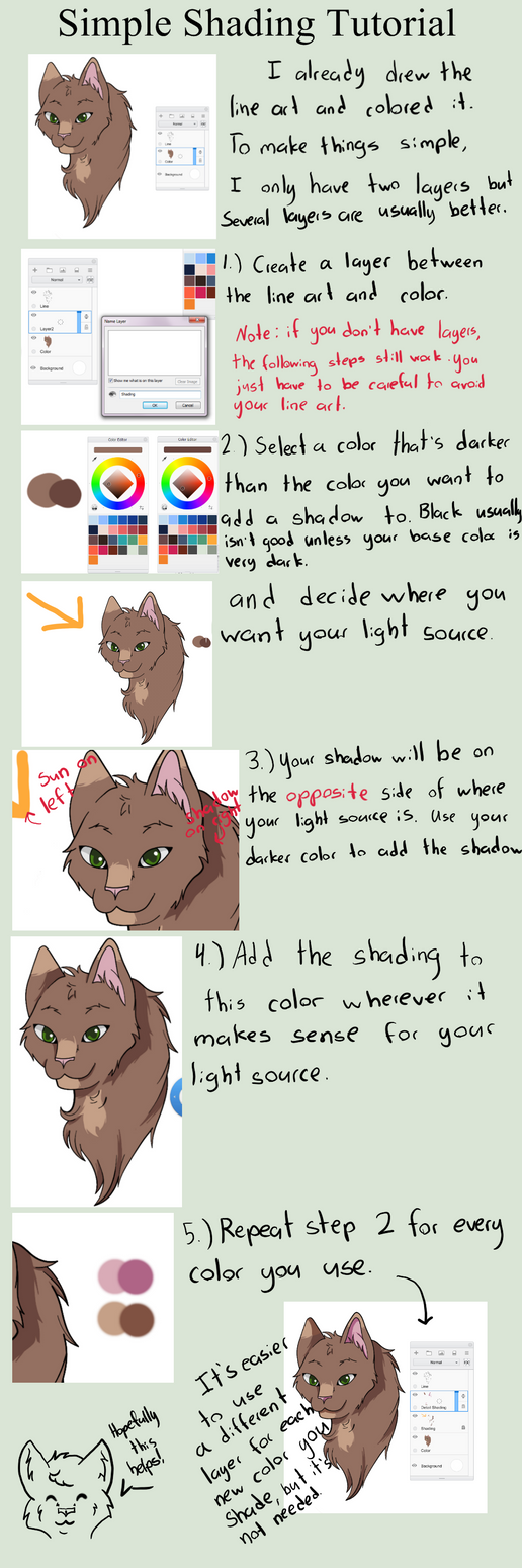 Simple Shading - Tutorial by drawingwolf17