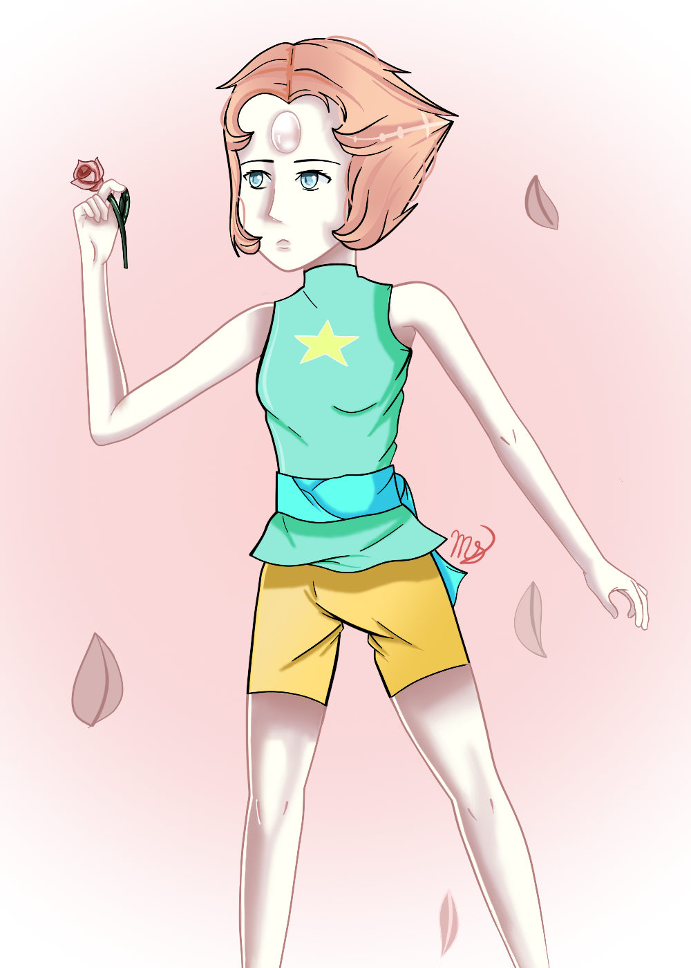 Pearl's Rose by drawingwolf17