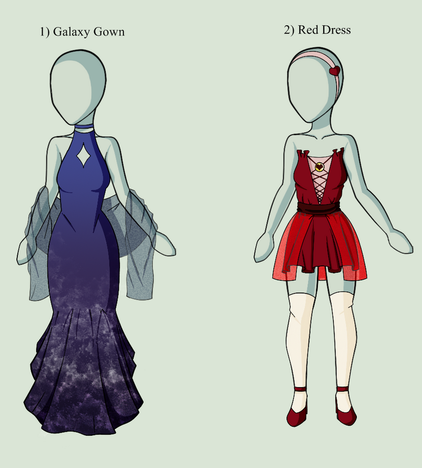 Dress Adoptables- Open by drawingwolf17
