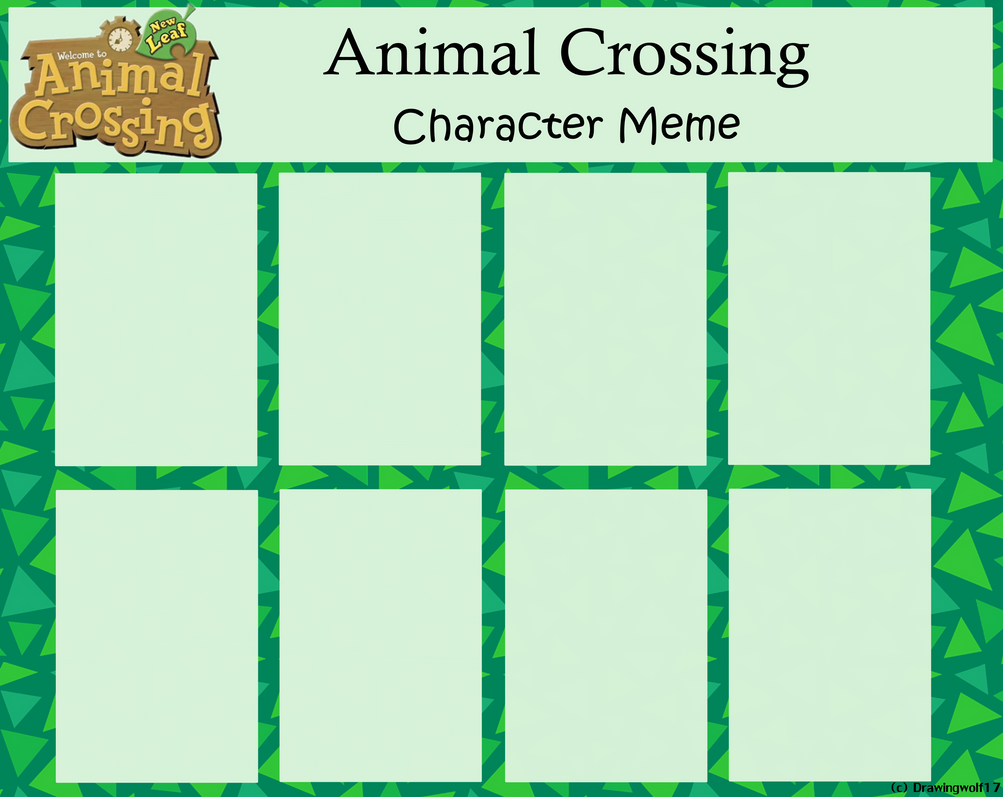 Animal Crossing Meme - Blank by drawingwolf17