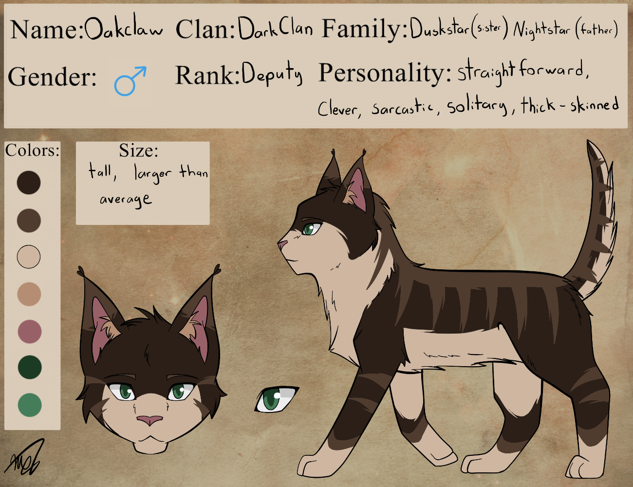 Oakclaw Reference by drawingwolf17