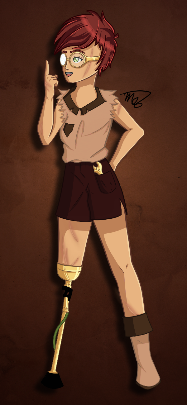Steampunk Hero by drawingwolf17