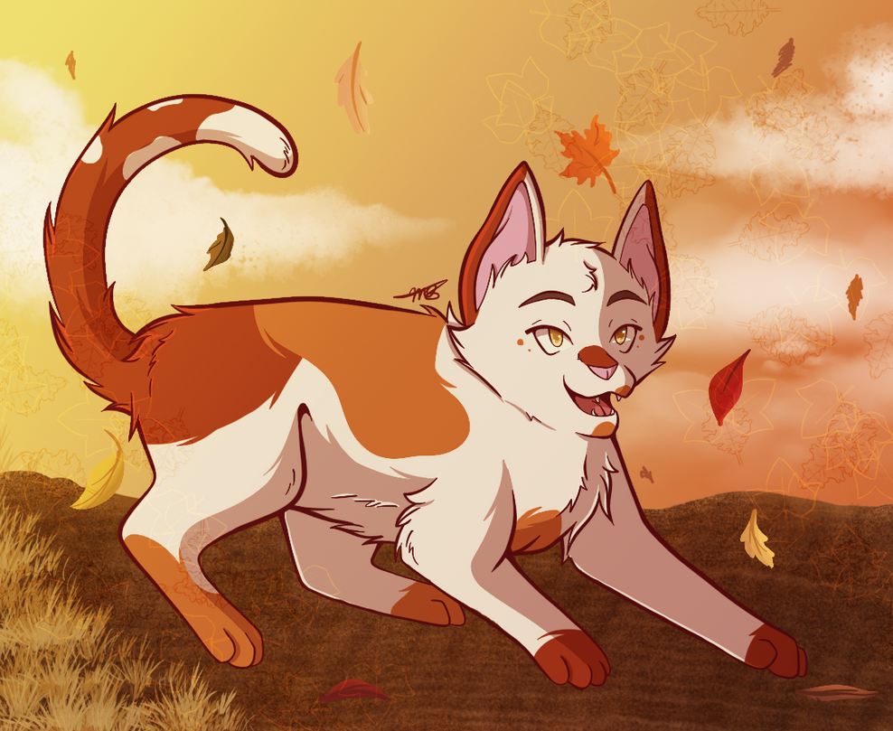 Autumn by drawingwolf17
