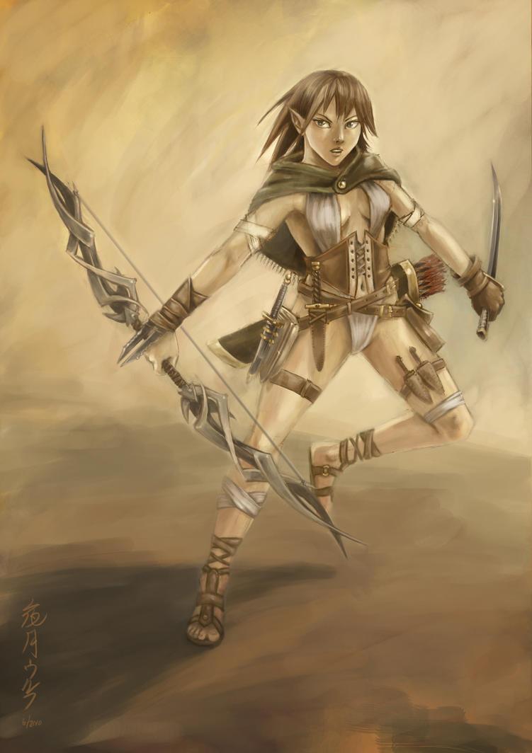 Elven Wood Scout by yazukiwolf