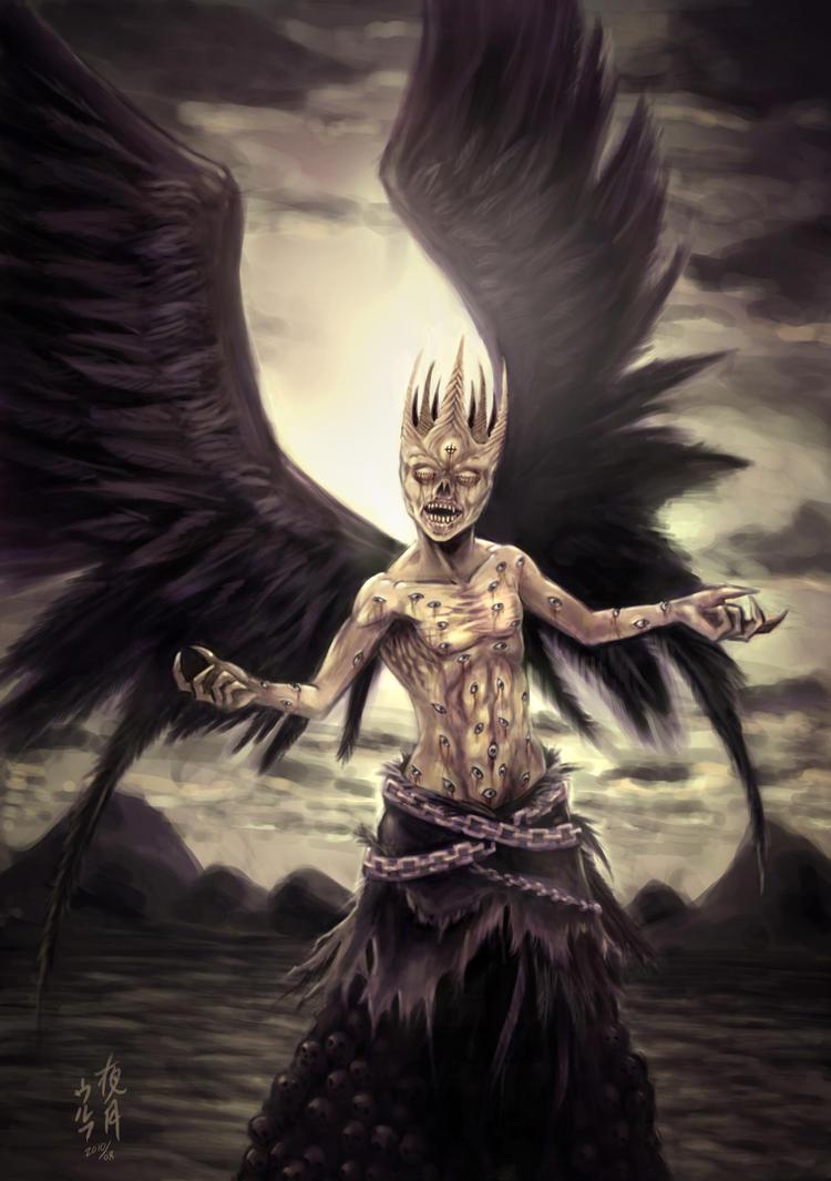The Angel Samael by yazukiwolf