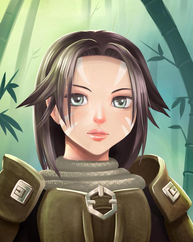 Fantasy Portrait by yazukiwolf