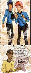 Craig/Kyle and Token / Star Trek AU by jana-Z95
