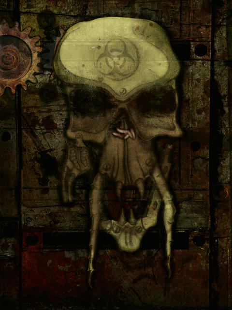 biomech skull by SamppaVonCyborg on deviantART