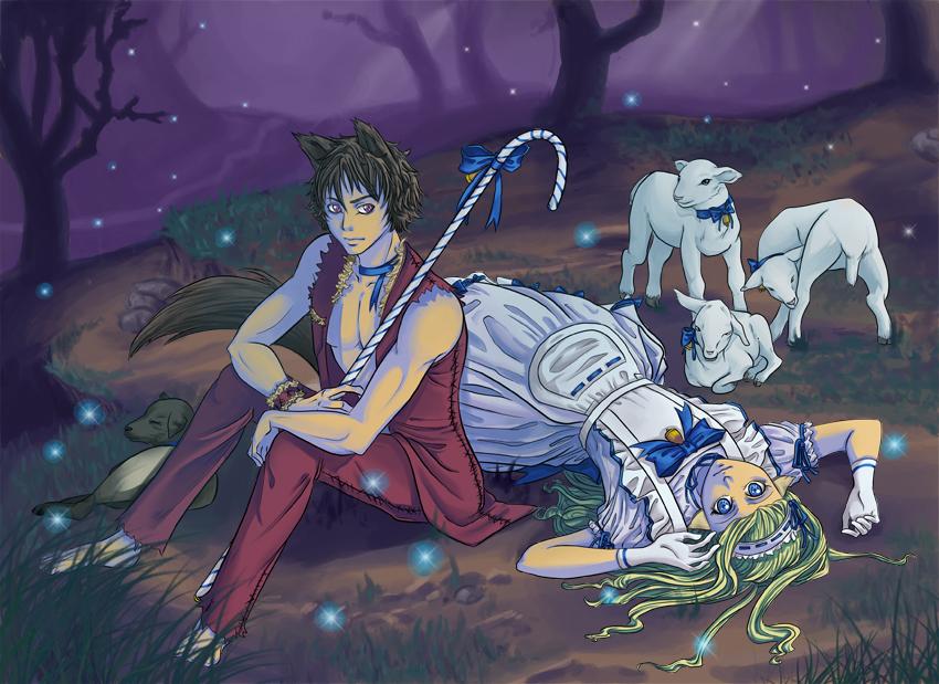 wolf and Shepherdess by ChiNoMiko
