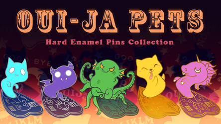 Ouija pets hard enamel pins collection