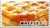 Waffles Stamp by TheTartestBite