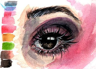 Watercolor Study | Eye by VIOletLIPS