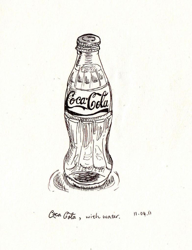 coke bottle with water by xXhellangelXx on DeviantArt