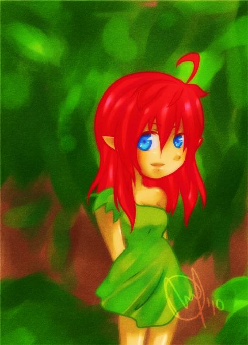 .Red Haired Girl. by Meru-sensei