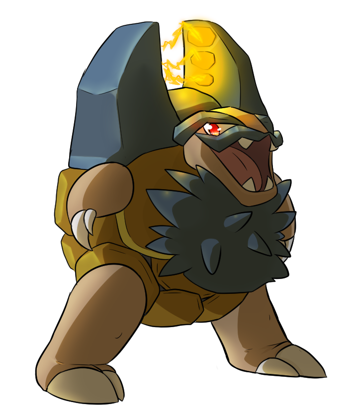 [COLLAB] Shiny Alolan Golem by nuclear-smash on DeviantArt