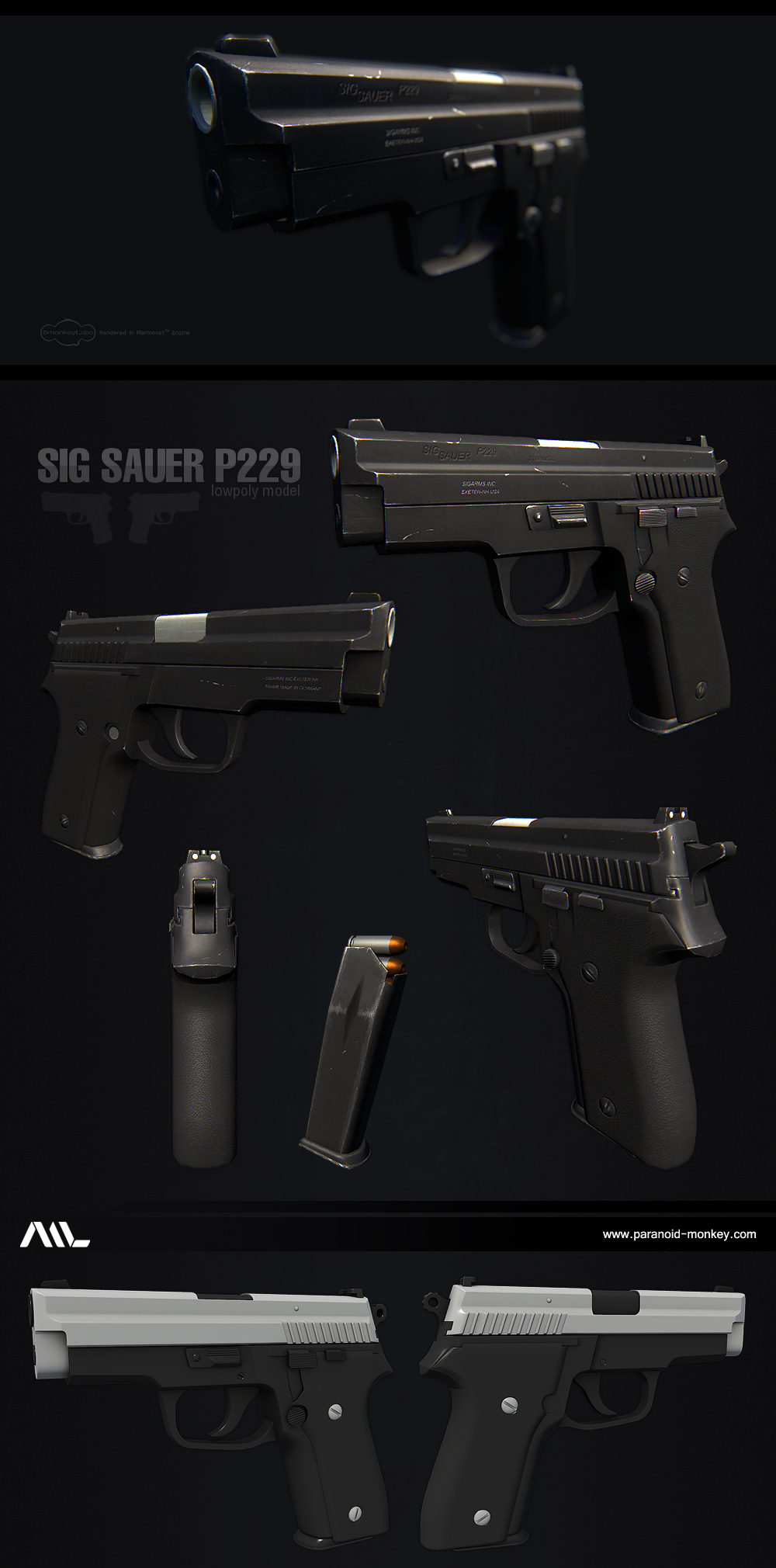 Sig Sauer P229 By Paranoid Monkey