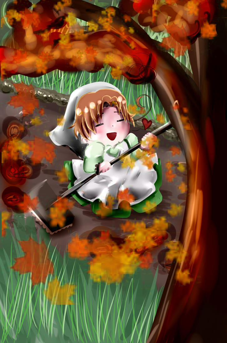 Autumn leaves by JennWa