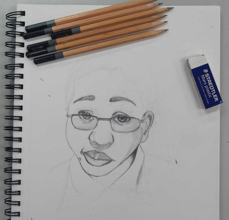 Admin Self Portrait W.I.P AP ART by GingerQuin