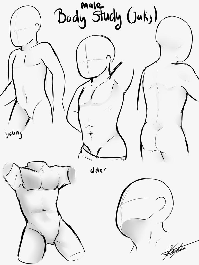 how to draw male body