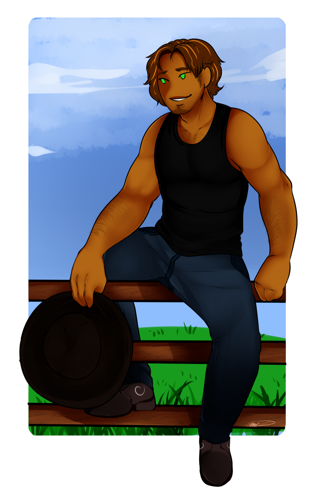 Dan The Gardener by GingerQuin