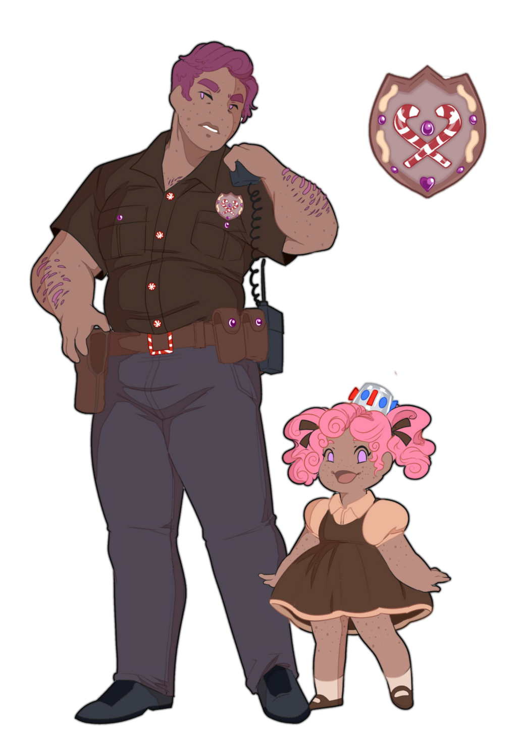 Officer Buster Crumbs and Angel