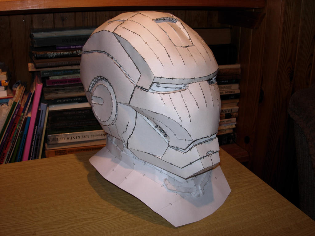 iron man foam armor templates - iron man helmet pepakura model by cubicalmember on deviantart