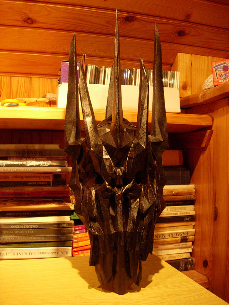 Sauron pepakura helmet painted by CubicalMember