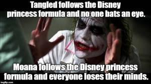 Joker meme - Disney princess formula