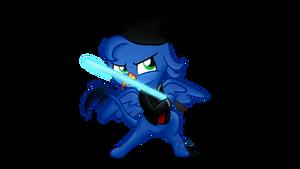 Commission: Chibi Griffon Jedi