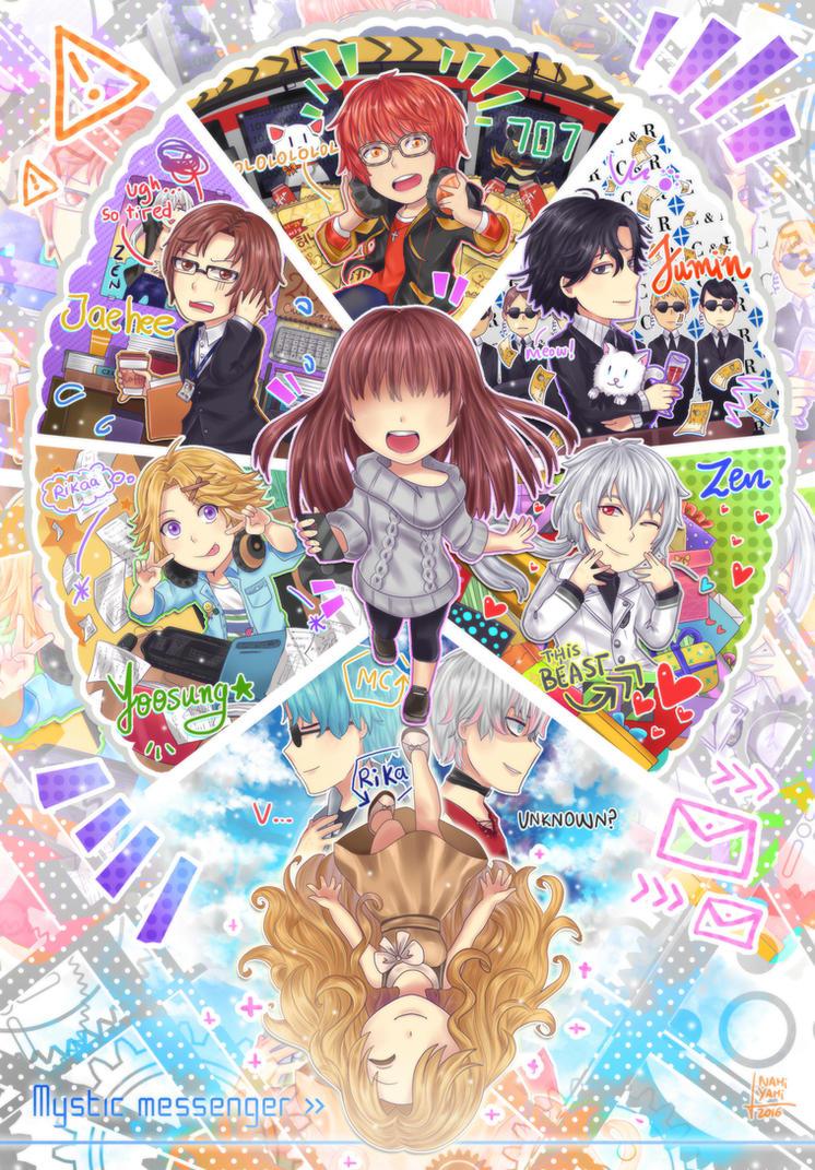 Mystic Messenger: Chibi characters by NamiYami