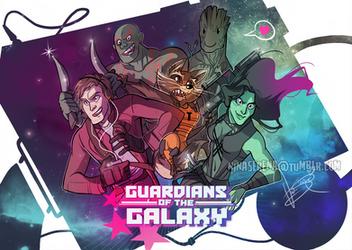 Guardians of the Galaxy by Nina-Serena