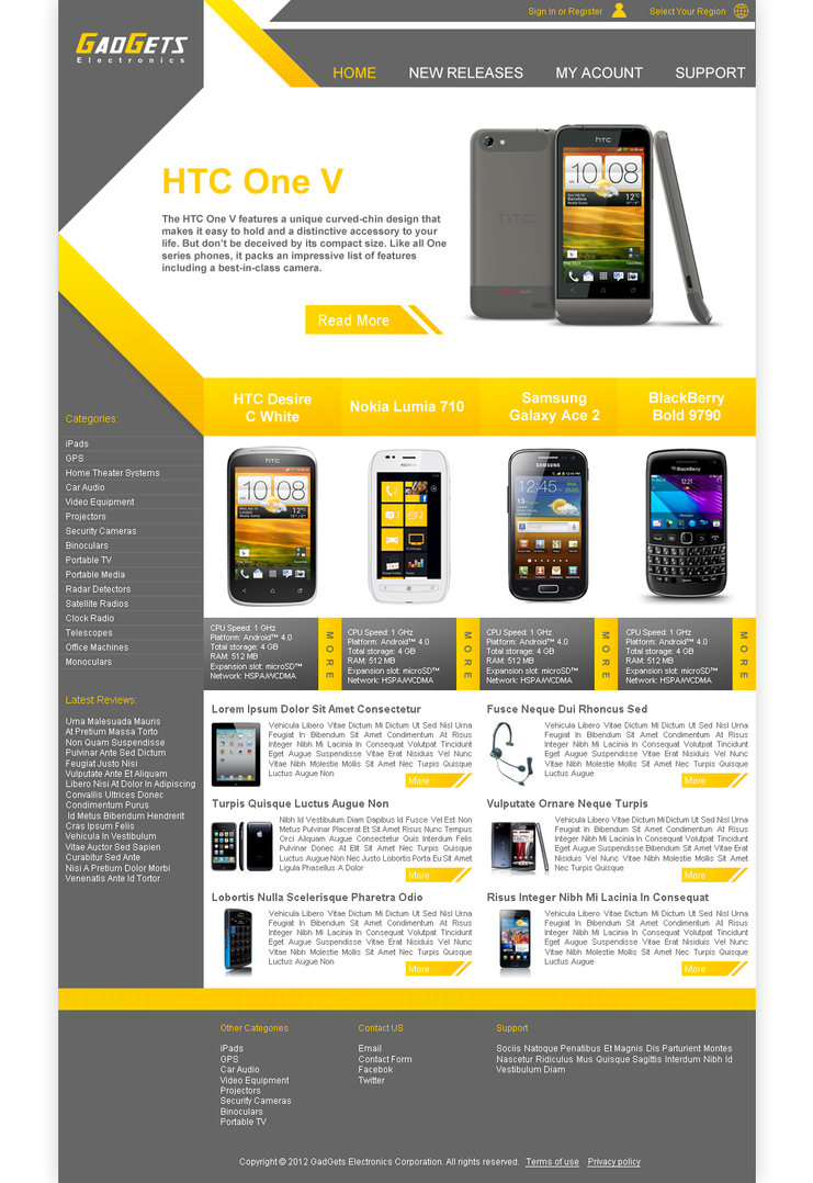 Electronics website template by algerianoo on deviantart for Drawing websites no download