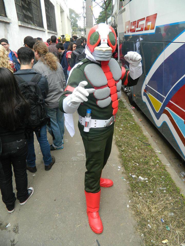 cosplay Kamen Rider V3 anime friends 2012 by CloudFerraz on