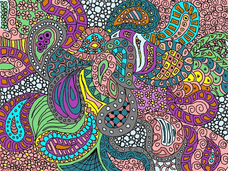 Zentangle Art With Color Katahrens Zentangle Colored
