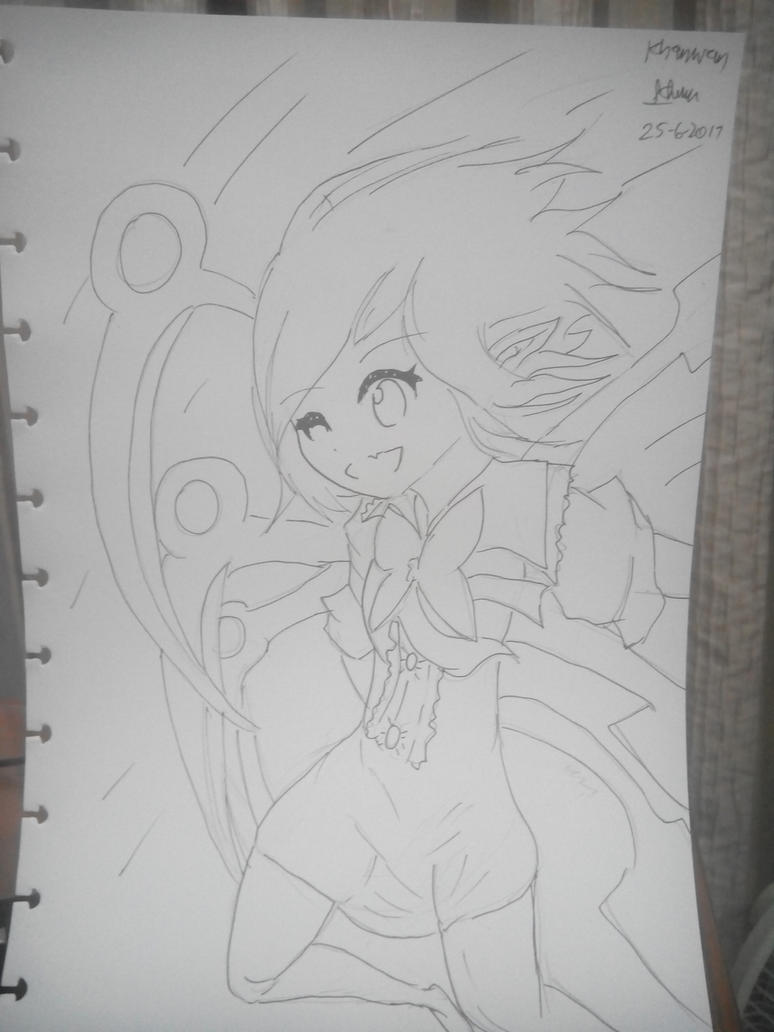 Sketch : What a nue-mero uno, nue is~ ~~ XD by Kh3mm4