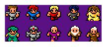 8-bit RPG Characters by SandyMorley