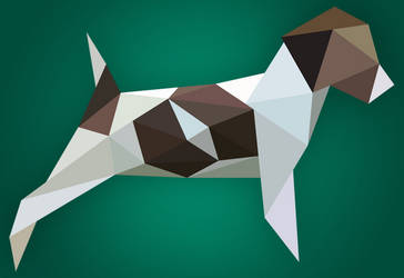 Dogbert low-poly vector